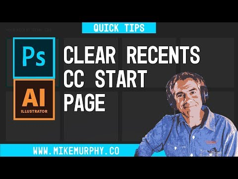 Adobe CC: Clear Recent Files in Photoshop & Illustrator