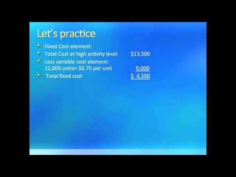 Intro to Managerial Accounting: Cost Behavior [Understanding & Predicting Costs] (Chapter 10)