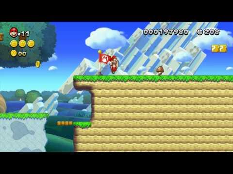 New Super Mario Brothers U Custom Level - Grassland Hills