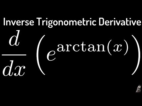 Inverse Trigonometric Derivatives f(x) = e^(arctan(x))