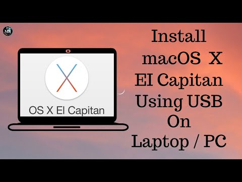 How To Install Mac OS X El Capitan 10.11.6 Using USB In windows  PC/Laptop