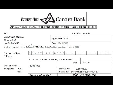 How to fill Canara Bank's Internet / Mobile banking application form? || Simplified in Hindi