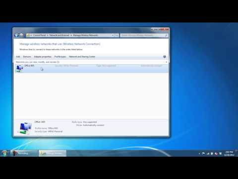 How to Remove a Wireless Network in Windows 7