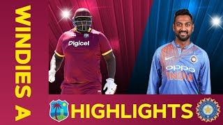 West Indies A Vs India A Match Highlights 3rd ODI 2019 India A Tour Of West Indies