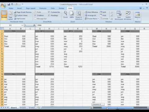 Excel How To Freeze Columns and Rows