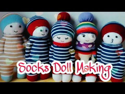 DIY | Easy Doll By Socks | Baby Doll | Bharti's Creative Art And Craft