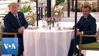 President Donald Trump Sits Down For Lunch With Macron Ahead of G-7 Summit