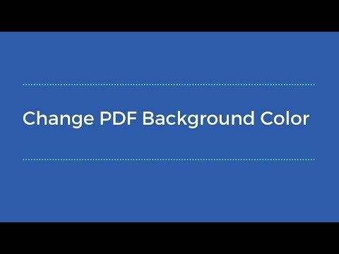 How to change pdf background color on Adobe Acrobat Reader?