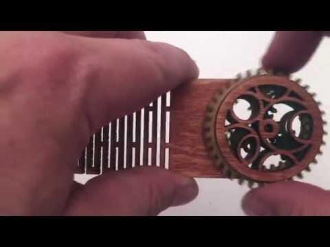 Steamy Tech Bubbles Wood Bookmark