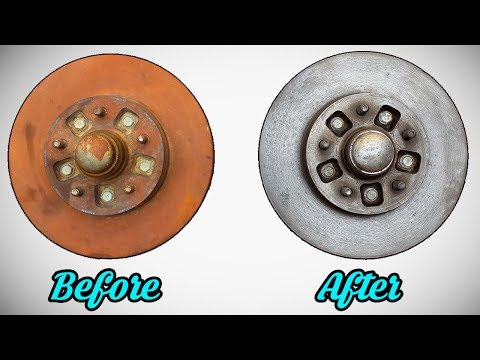 How to remove rust from brake rotors /Rust removal using electrolysis /Rust removal at home
