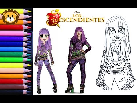 Como Dibujar Mal Descendientes 2 Disney Draw And
