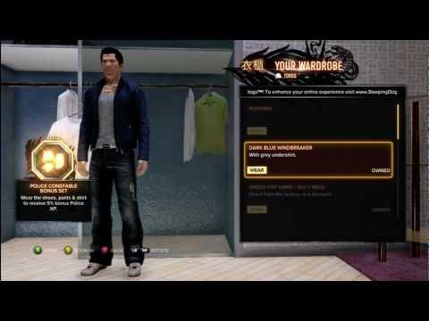 Sleeping Dogs All Clothing Jewelry and Pre set Costumes HD