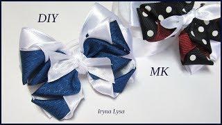 Бантики🎀 В Школу Из Атласных Лент МК / Diy Ribbon Bows For Hair