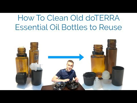 How To Clean Old doTERRA Essential Oil Bottles to Reuse