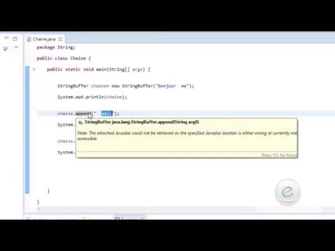 Java : La Classe  StringBuffer