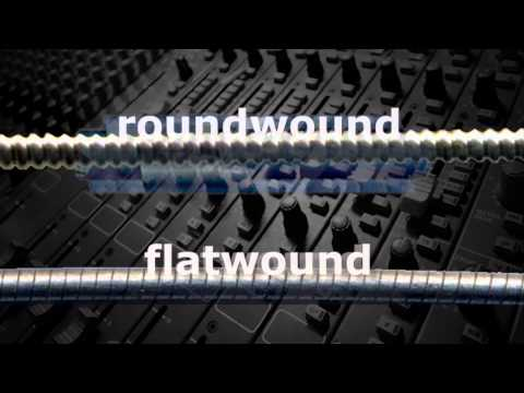 Roundwound, Flatwound, and Groundwound Strings