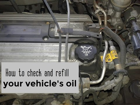 How to check and add oil to your vehicle DIY video