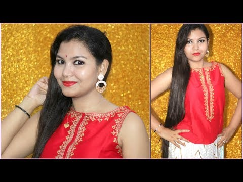 Diwali makeup tutorial 2017/ complete outfit and makeup/INDIANGIRLCHANNEL TRISHA