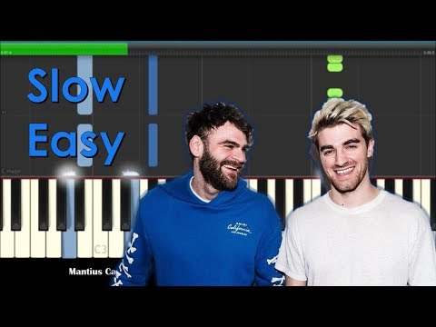 The Chainsmokers Everybody Hates Me Slow Easy Piano Tutorial