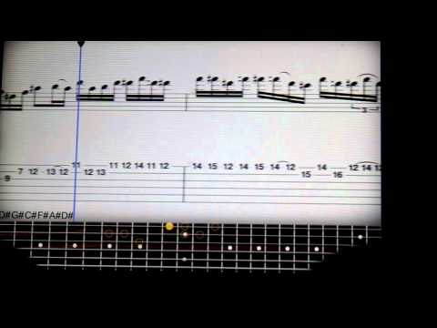 sweet child o' mine solo TABS +slow motion!!!