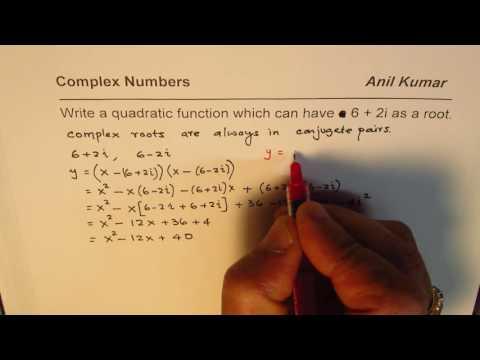 How to Write Quadratic Equation from Complex Roots