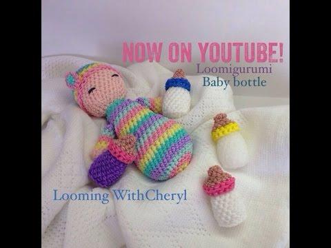 Rainbow Loom - Baby Bottle - Loomigurumi - Amigurumi Hook Only Лумигуруми