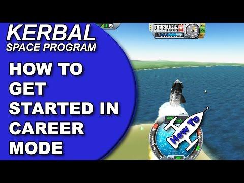 KSP Tutorial - Tips on How to Get Started (Kerbal Space Program Career Mode Walkthrough/Tutorial)