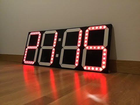 DIY BIG DIGITAL CLOCK