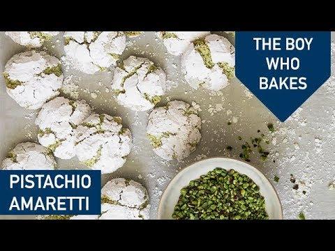 Soft Pistachio Amaretti Recipe - The Boy Who Bakes