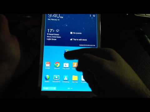 Samsung Galaxy Tab Pro 8.4 Tip How to organize your apps in folders