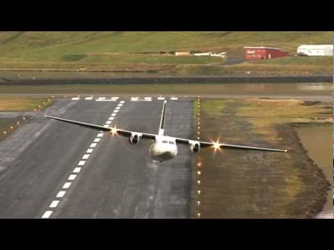 Extreme Airport takeoff in Iceland