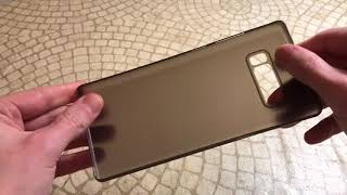 Spigen Air Skin Galaxy Note 8 Case BiG Unboxing and Review