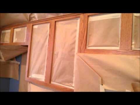 How to Refinish Cabinets - Shading Technique - see New process  480-257-0770