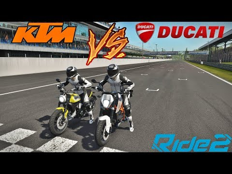 RIDE 2 - RACHA DE KTM DUKE 690 VS DUCATI SCRAMBLER - ft. Getaway Driver
