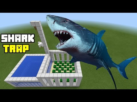 How to Make a Shark Trap | Minecraft PE