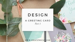 How to design a greeting card in Photoshop; How to set up a template - Part 1