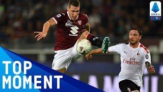 Il Gallo scores stunning close-range overhead kick goal | Torino 2-1 Milan | Top Moment | Serie A