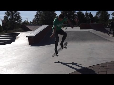 GIRL DOES HER FIRST OLLIE!!