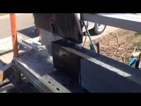 Stone cutting - bluestone slab