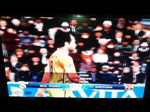 Barcelona 3 Real Madrid 0 en champion league PES