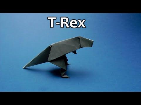 Origami easy T-Rex