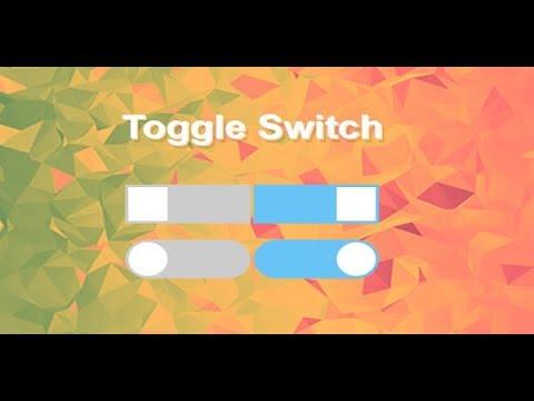 Toggle Switch Control, Javascript Toggle Button, Css3 Toggle Switch, Switch Button On Off
