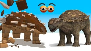 CUBE BUILDER for KIDS (HD) - Build an Ankylosaurus Dinosaur for Children - AApV