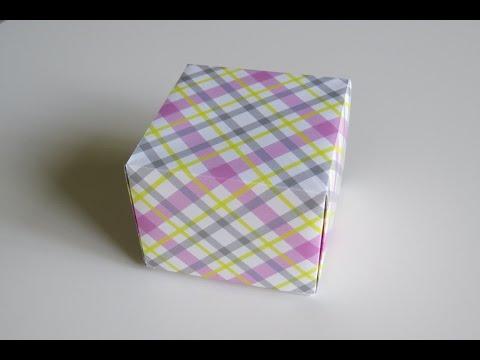 An Origami Box from  a Rectangular Sheet