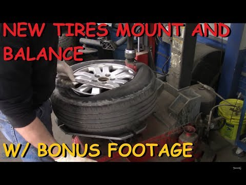 Mounting & Balancing New Tires On The CRV Part II