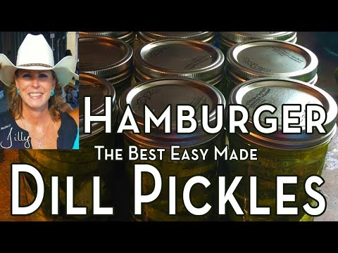 Canning Pickles ~ How to Make Hamburger Pickles