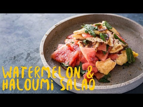 How to make healthy grilled haloumi salad