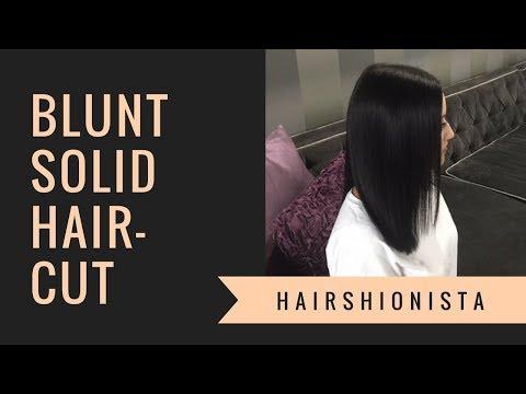 BLUNT CUT Haircut Tutorial   by HAIRSHIONISTA