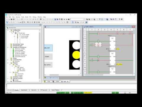 PLC schneider traffic light for beginner