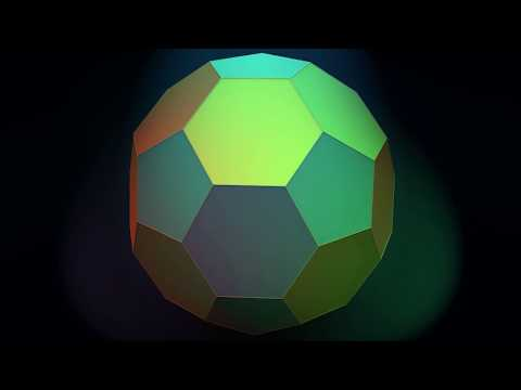 Make 3D Solid Shapes - Truncated Icosahedron / Усеченный икосаэдр